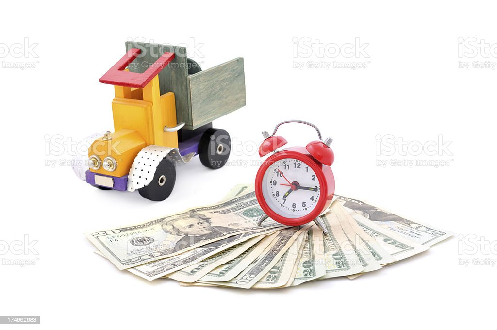 time, work and money royalty-free stock photo