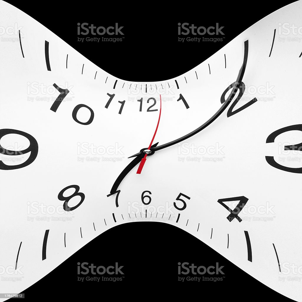 Time wrap stock photo
