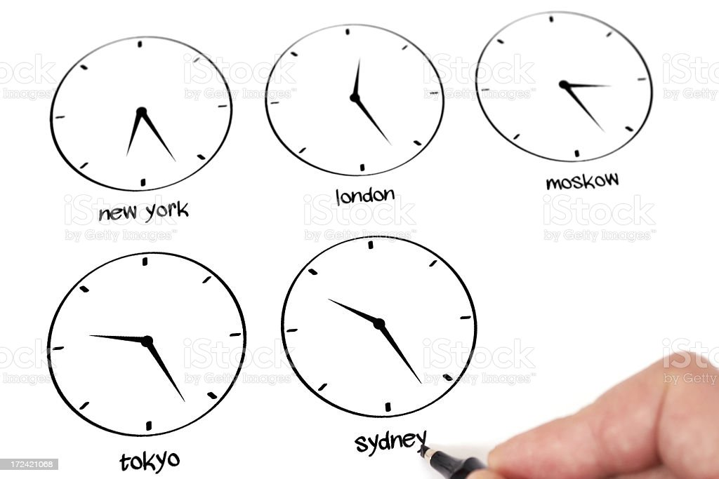 Time Zone royalty-free stock photo