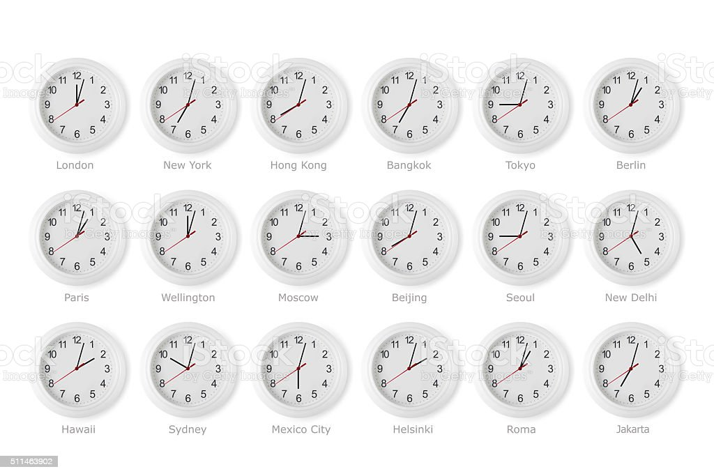 time zone world stock photo