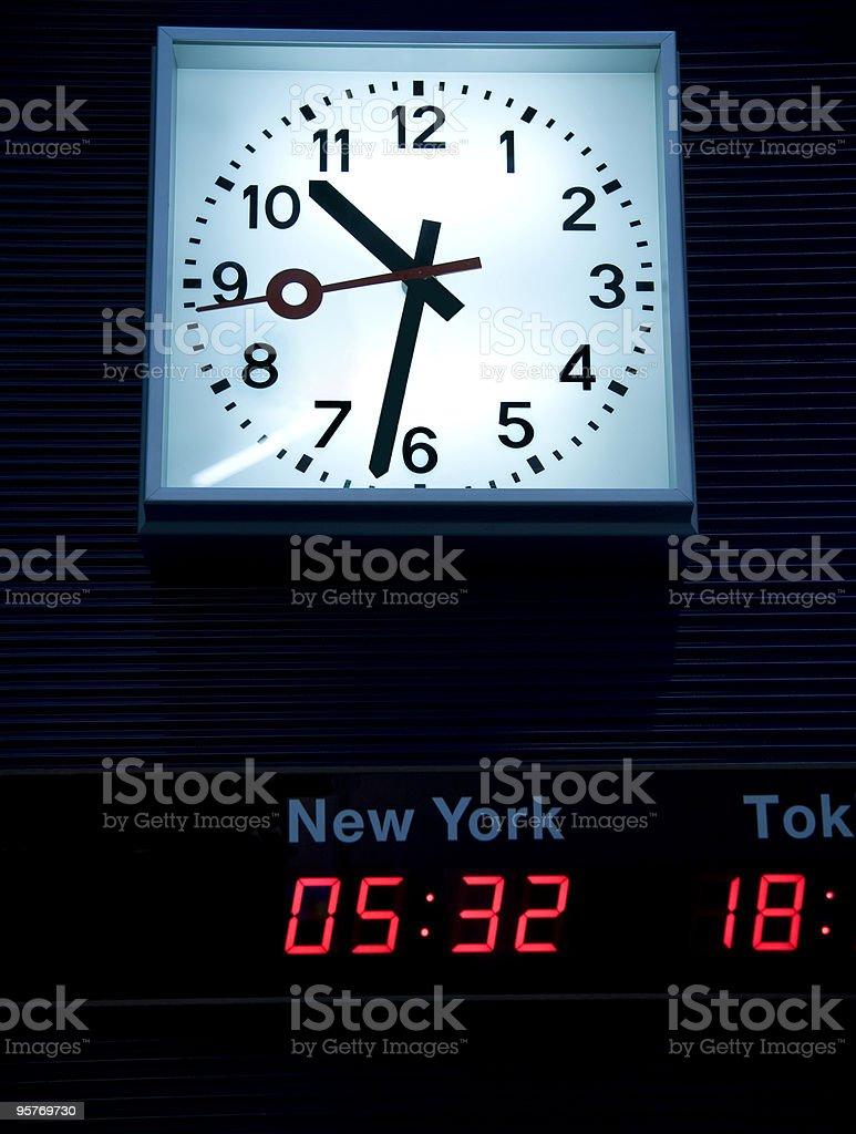 Time Zones Clocks royalty-free stock photo