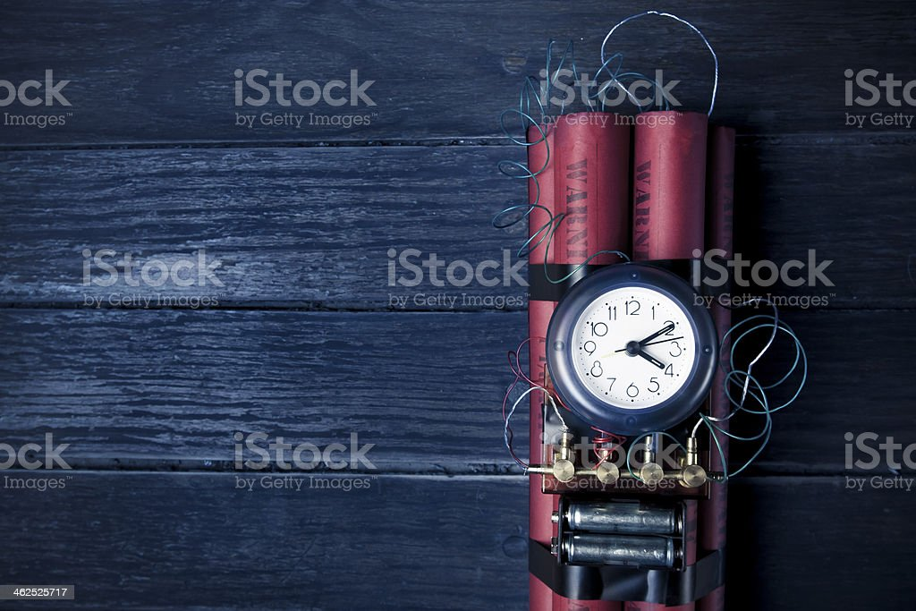 timebomb on a dark background royalty-free stock photo