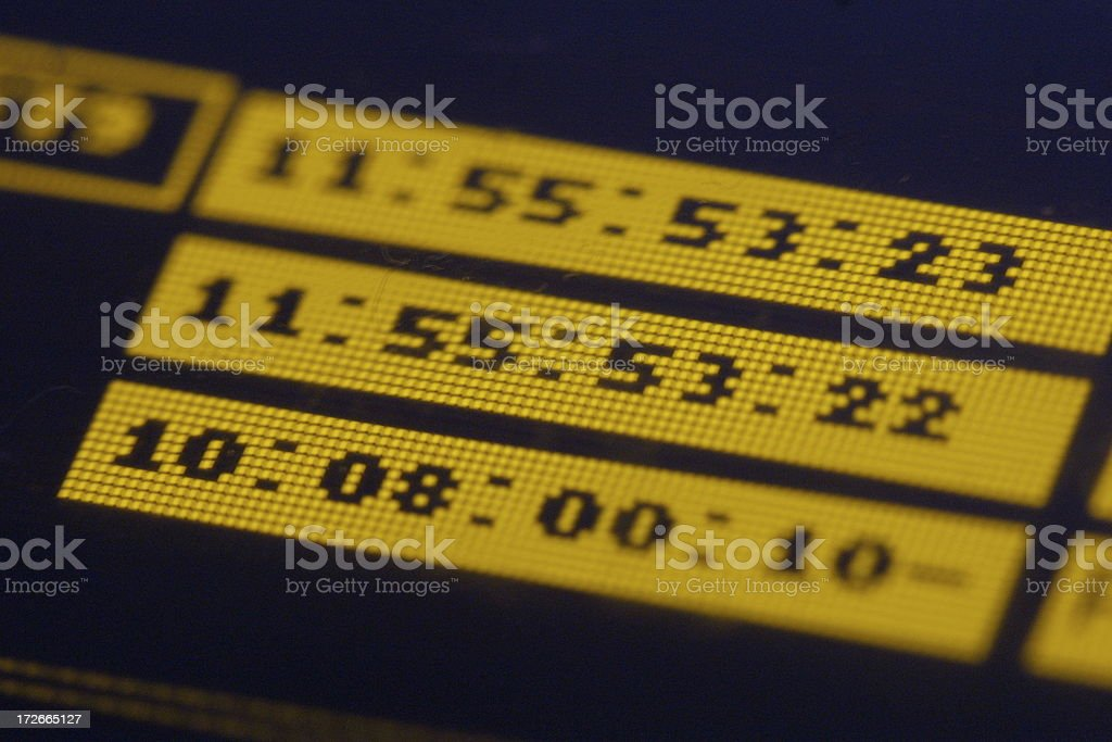 timecode at edefis royalty-free stock photo