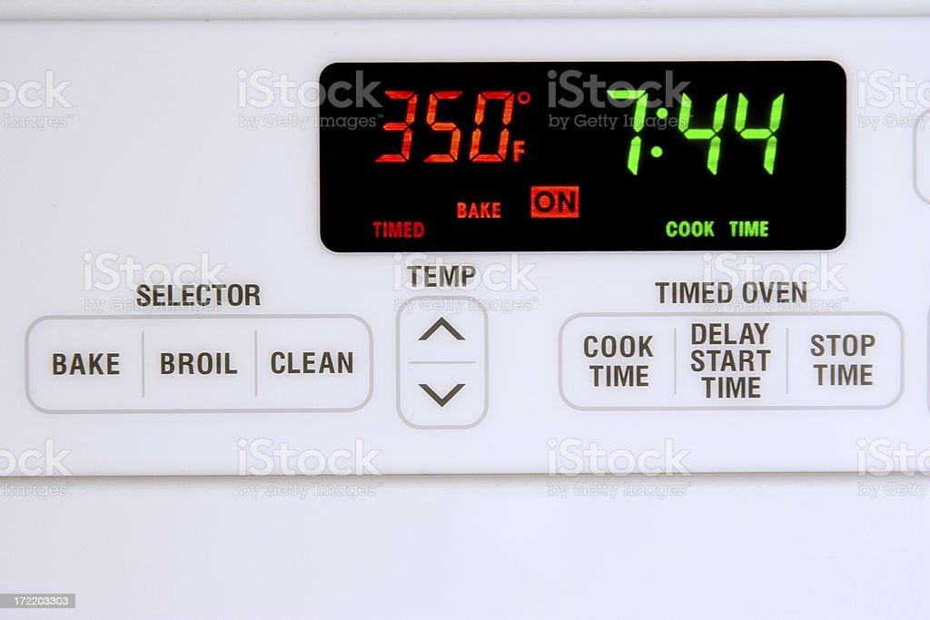 Timed Baking stock photo