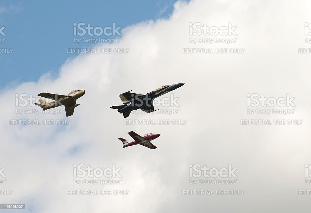 Timeless Jets in Canadian Airshow stock photo