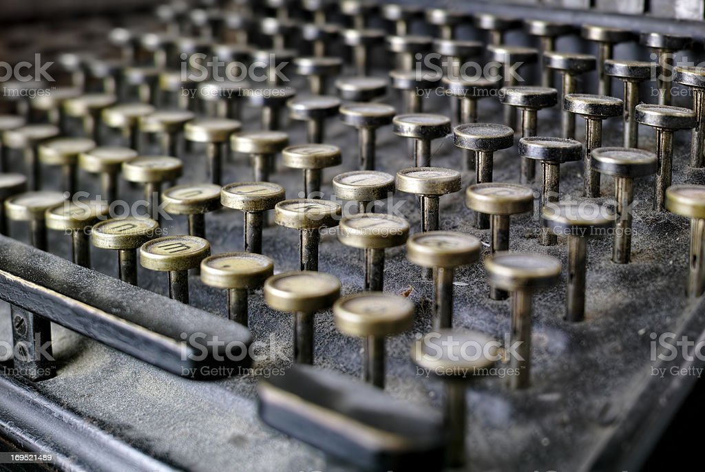 Timeless typing royalty-free stock photo