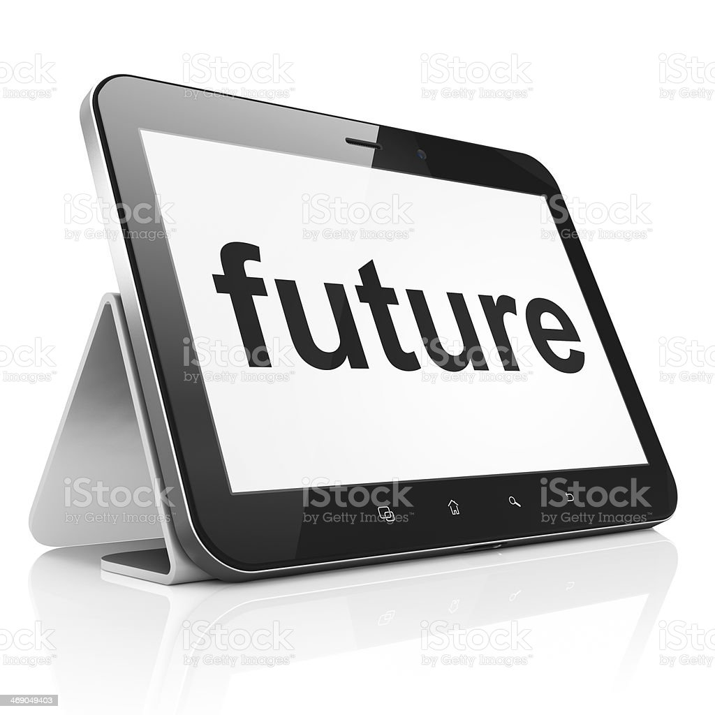 Timeline concept: Future on tablet pc computer royalty-free stock photo