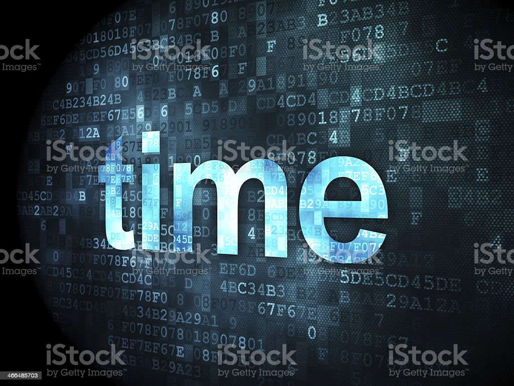 Timeline concept: Time on digital background royalty-free stock photo