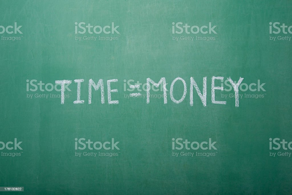Time=Money Chalkboard royalty-free stock photo