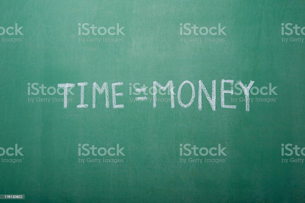 Time=Money Chalkboard stock photo