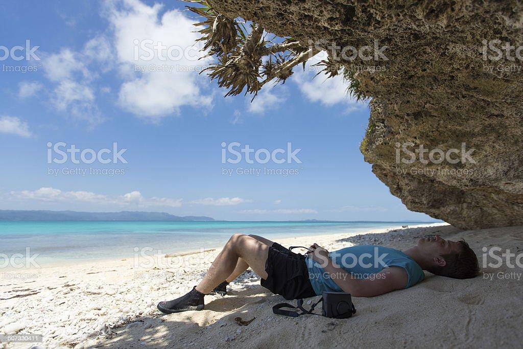 Zeitüberschreitung auf tropisches Paradies Lizenzfreies stock-foto