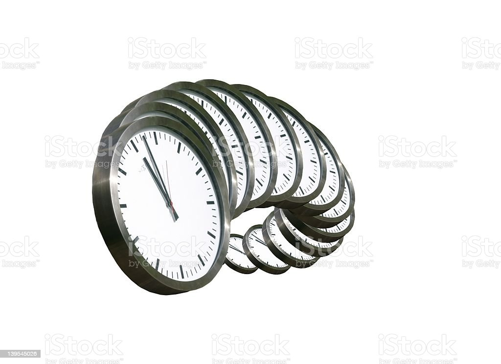 time-over white stock photo