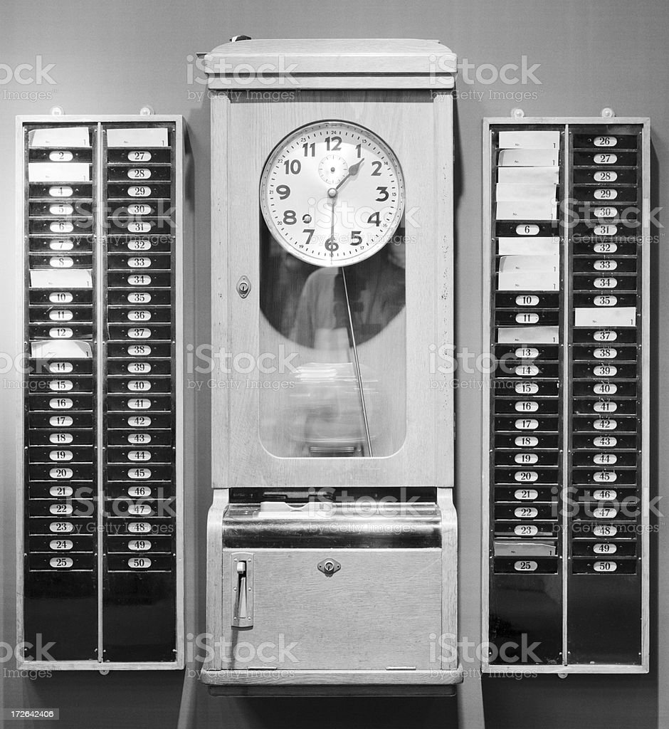 Time-punch machine stock photo