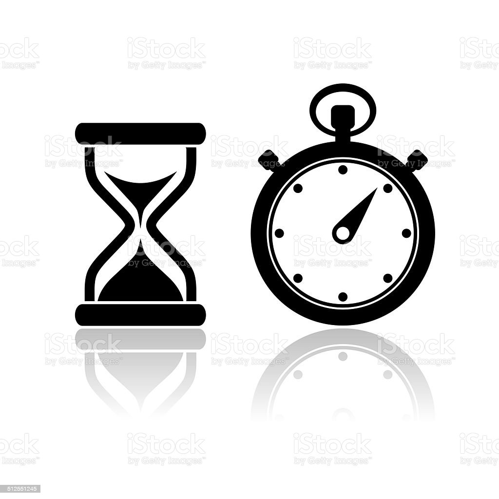 Timer icon stock photo