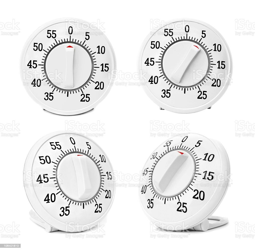 timer isolated on white royalty-free stock photo