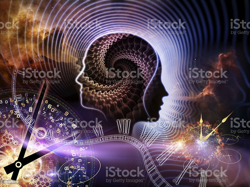 Times of Human Mind royalty-free stock vector art