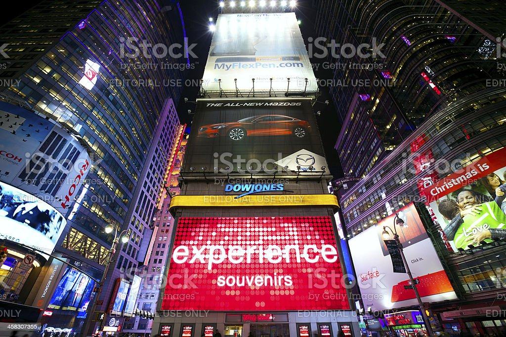 Times Square advertising royalty-free stock photo