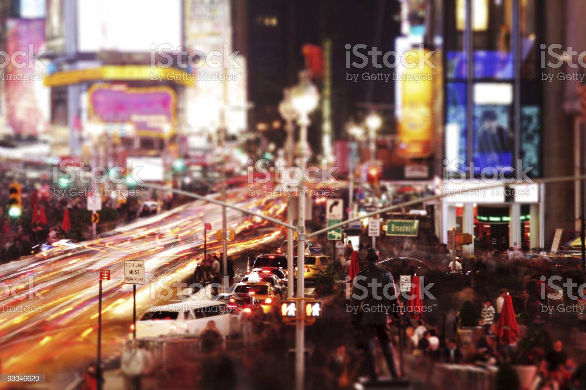 Times Square at evening royalty-free stock photo