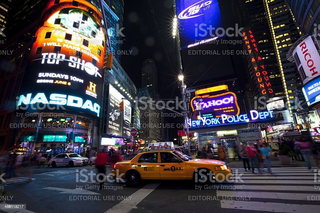 Times Square at Night royalty-free stock photo