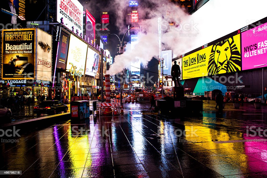 Times Square at Night stock photo