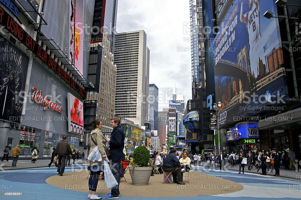Times Square auto free plaza, Midtown Manhattan, NYC stock photo