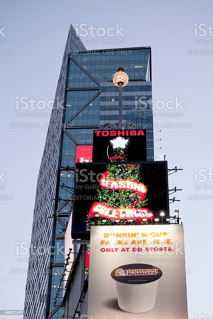 Times Square Ball in New York City stock photo