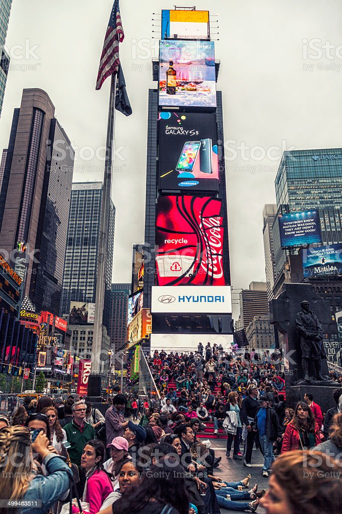 Times square billboard on the buildings royalty-free stock photo