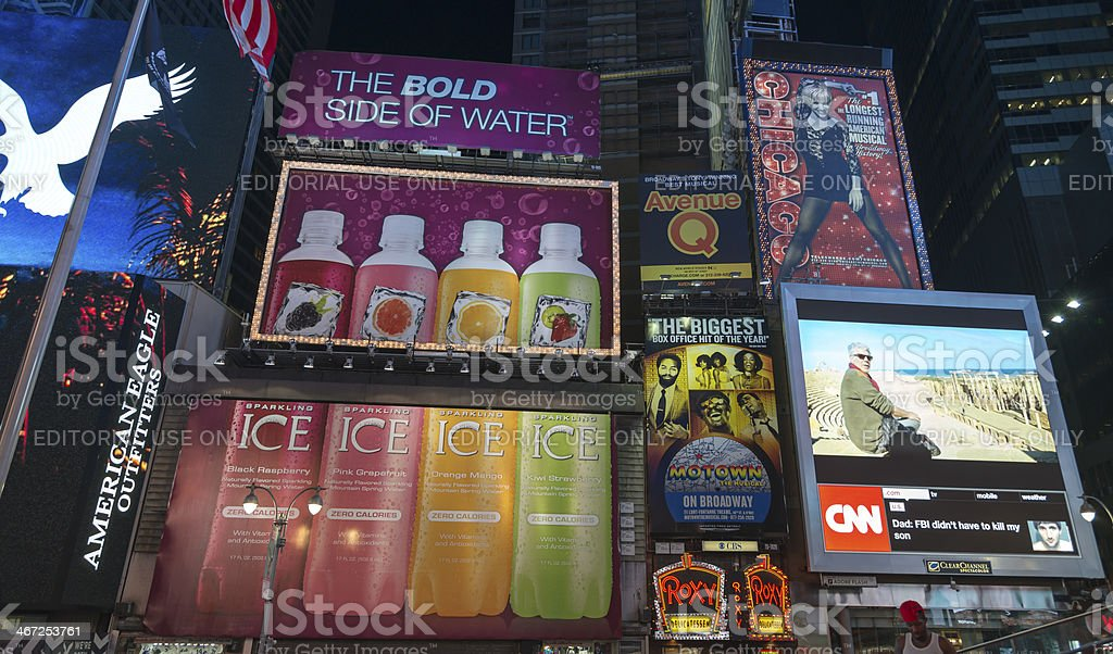 Times Square Billboards stock photo