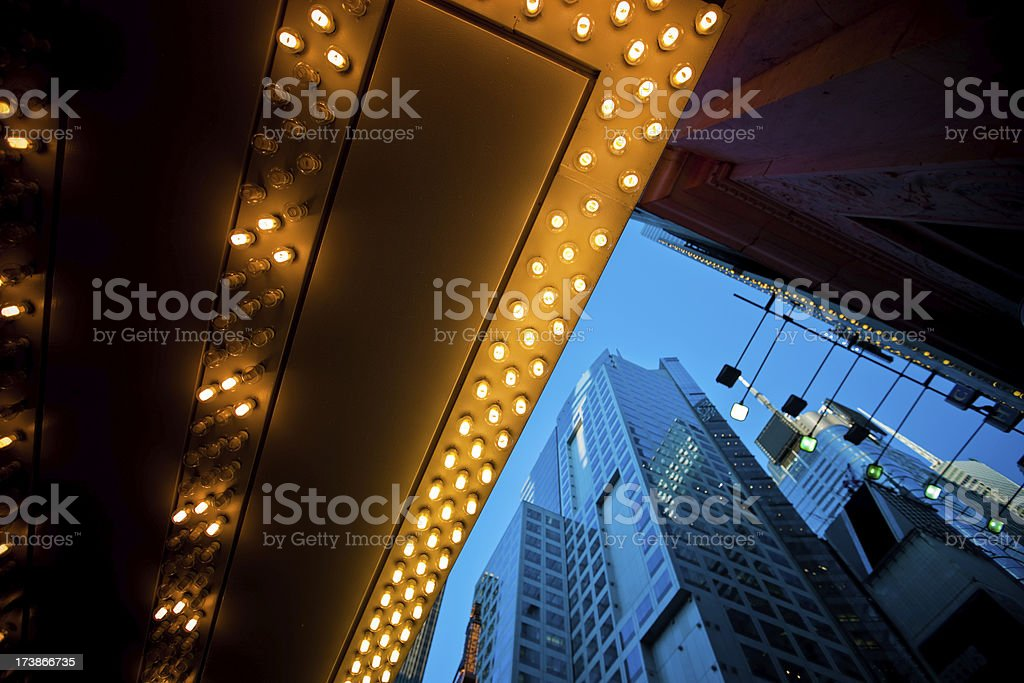 Times Square Buildings royalty-free stock photo