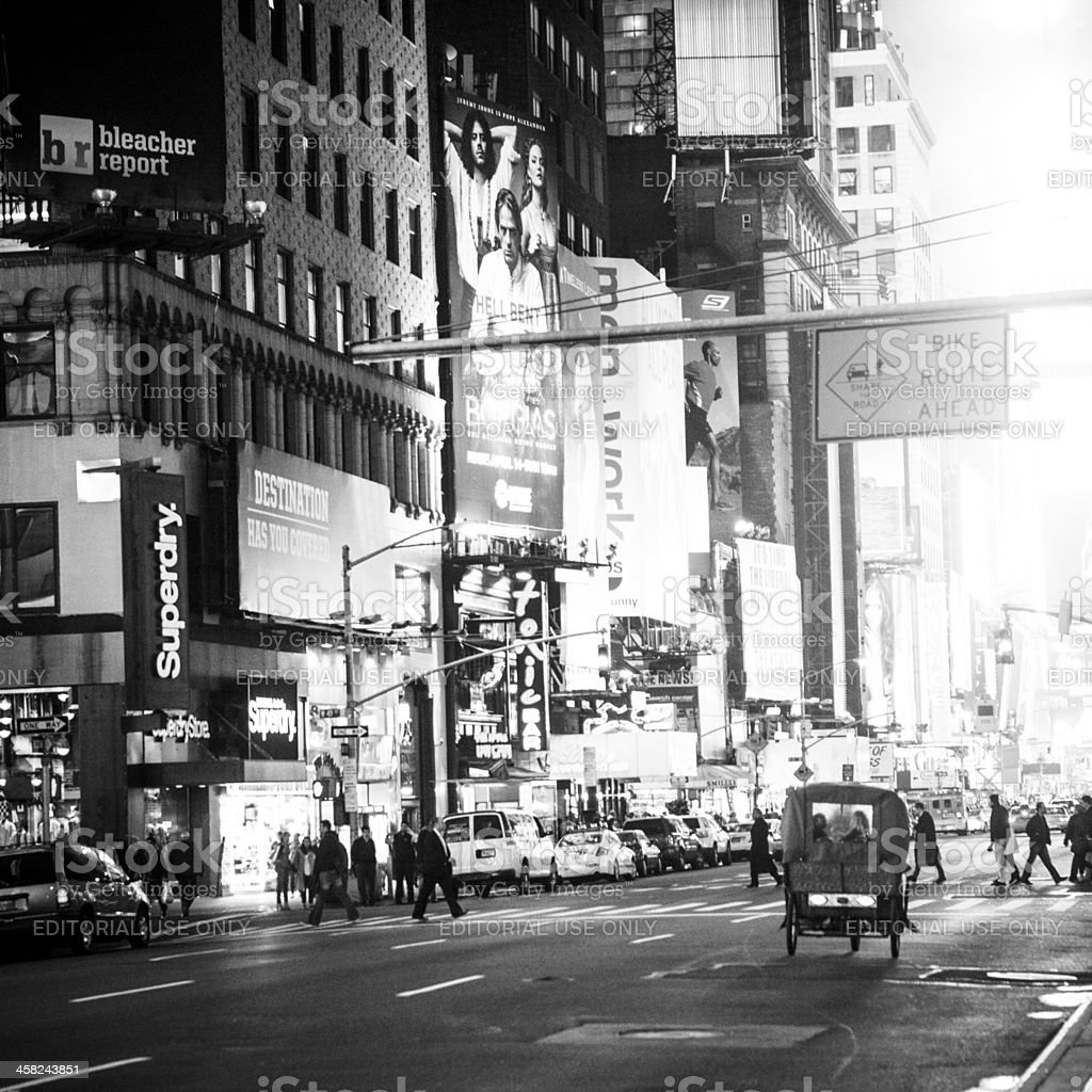 Times Square By Night royalty-free stock photo