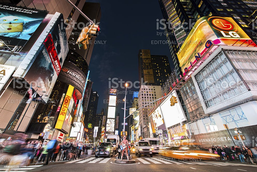 NYC Times Square Cowboy Performer royalty-free stock photo