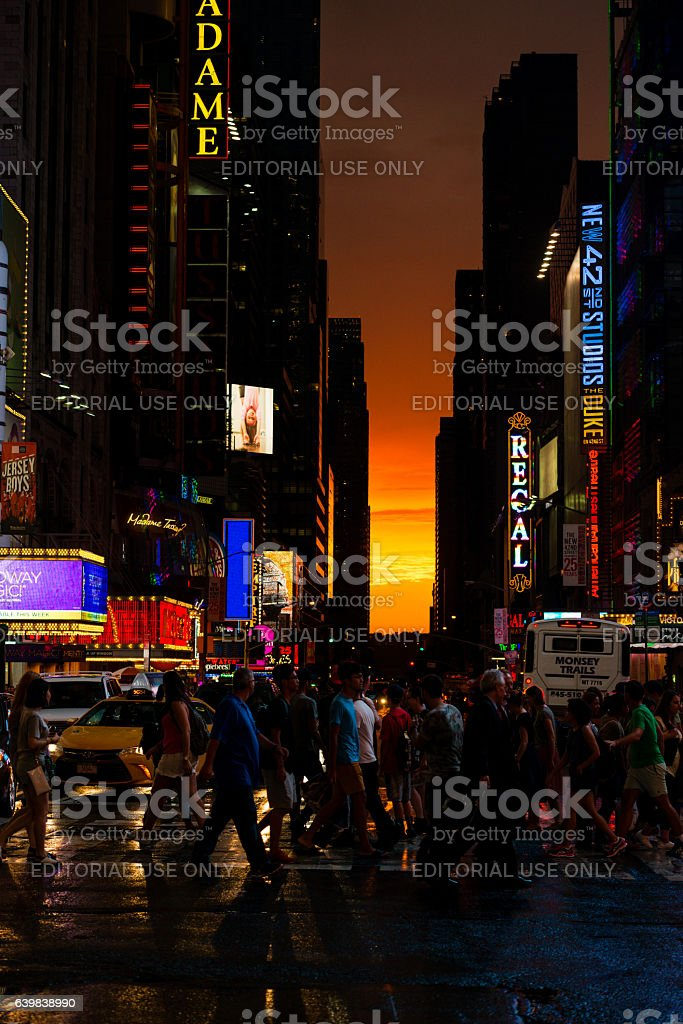 Times Square Gold stock photo