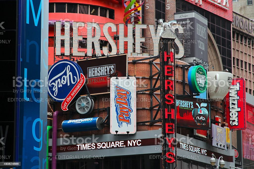 Times Square Hersheys stock photo
