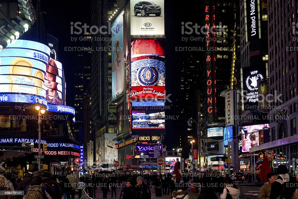 Times Square in Manhattan, New York City royalty-free stock photo