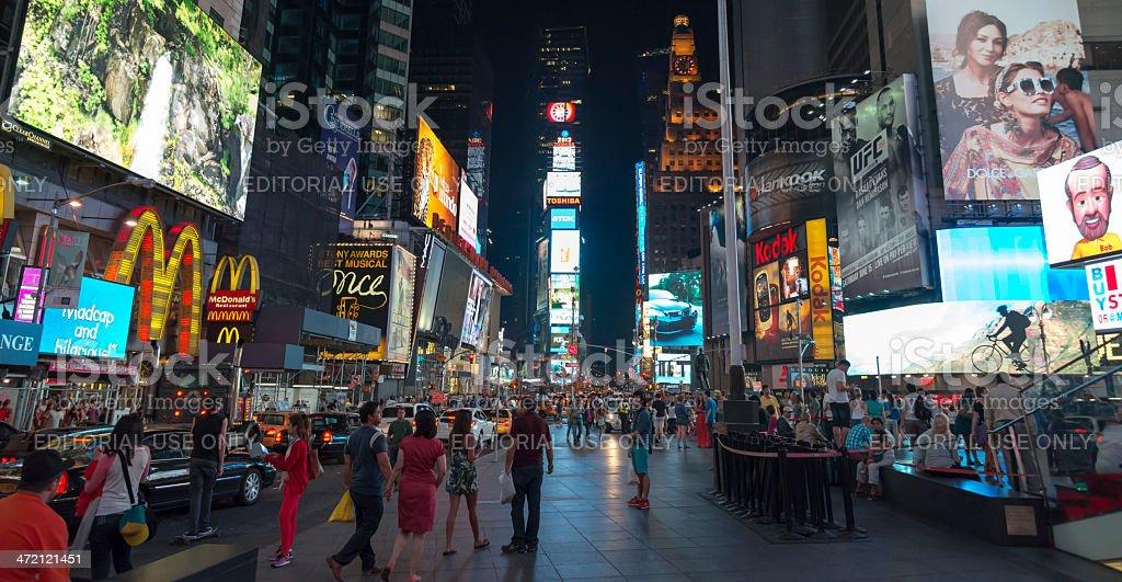 Times Square Manhattan at night stock photo