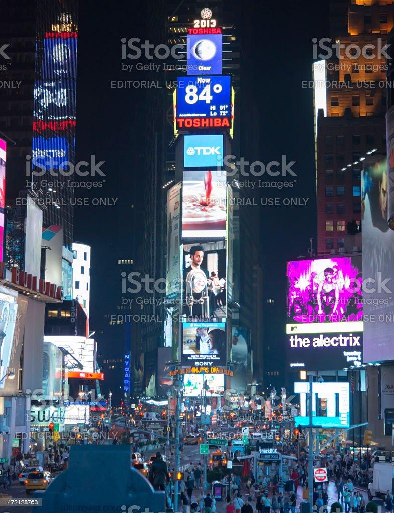 Times Square Manhattan at night royalty-free stock photo