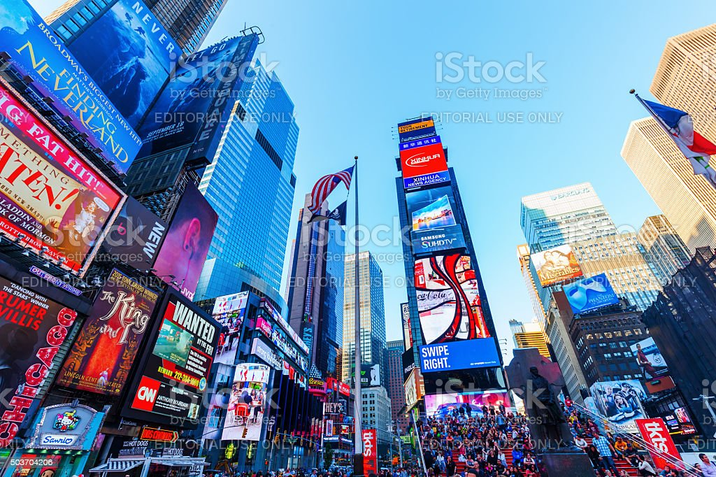 Times Square, Manhattan, NYC stock photo