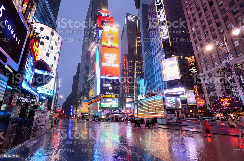 Times Square Manhattan stock photo