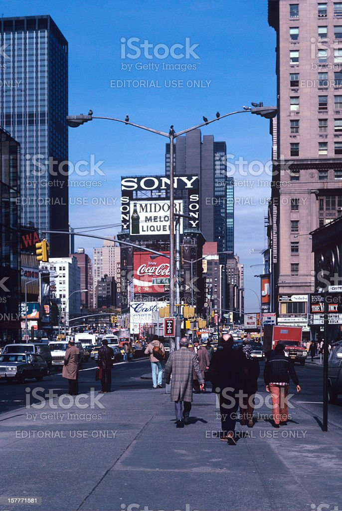 Times Square New York 1982 stock photo