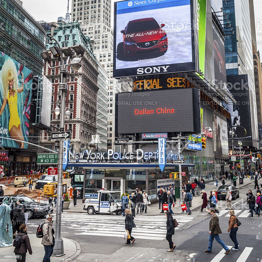 Times Square New York City royalty-free stock photo
