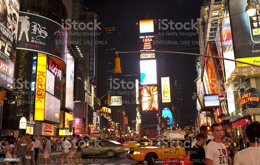 Times Square , New York City royalty-free stock photo