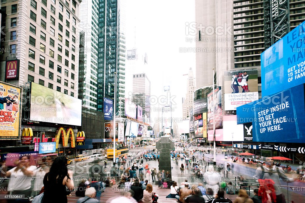 Times Square, New York City royalty-free stock photo