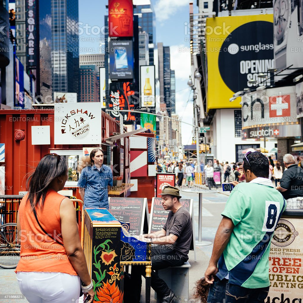 Times Square New York royalty-free stock photo