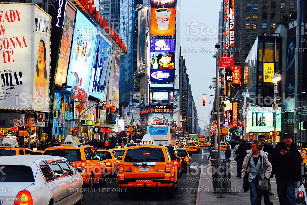 Times square new York stock photo