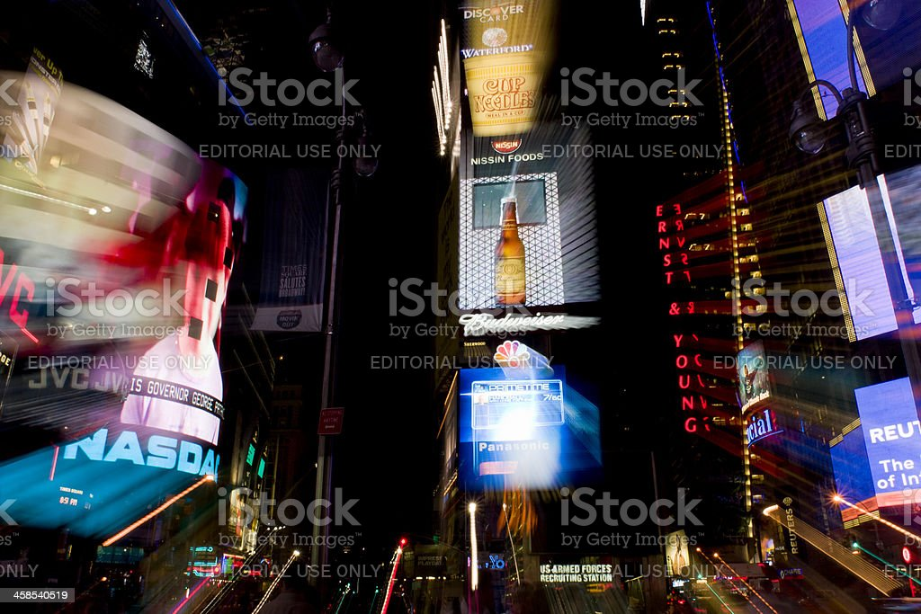 Times Square, New York Signs at Night royalty-free stock photo