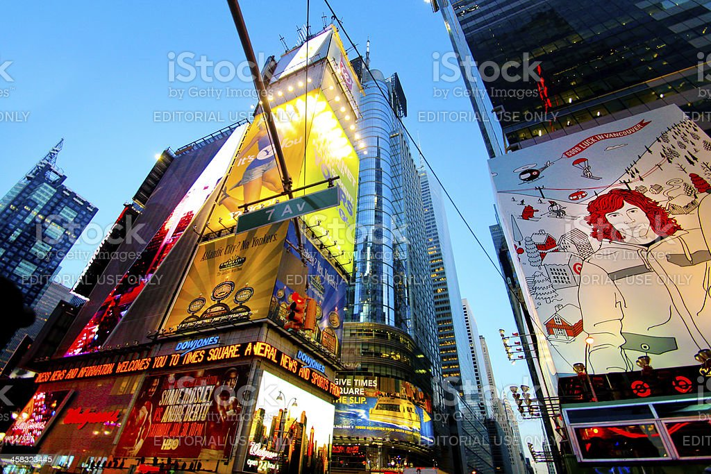 Times Square NYC royalty-free stock photo