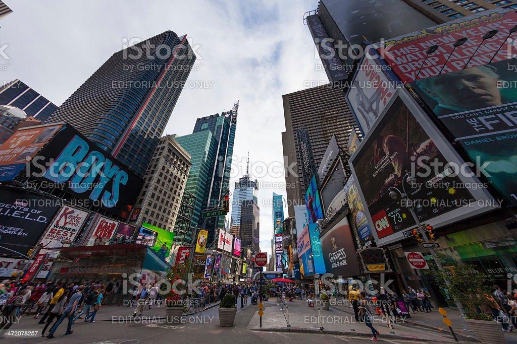 Times Square of New York City, Manhattan, United States stock photo