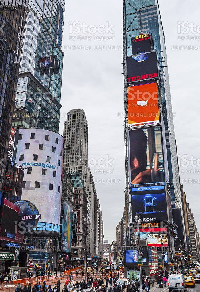 Times Square stock photo