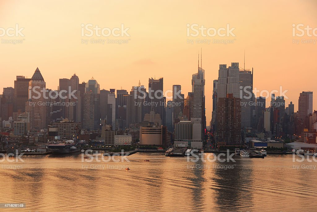 Times Square skyline, New York City royalty-free stock photo