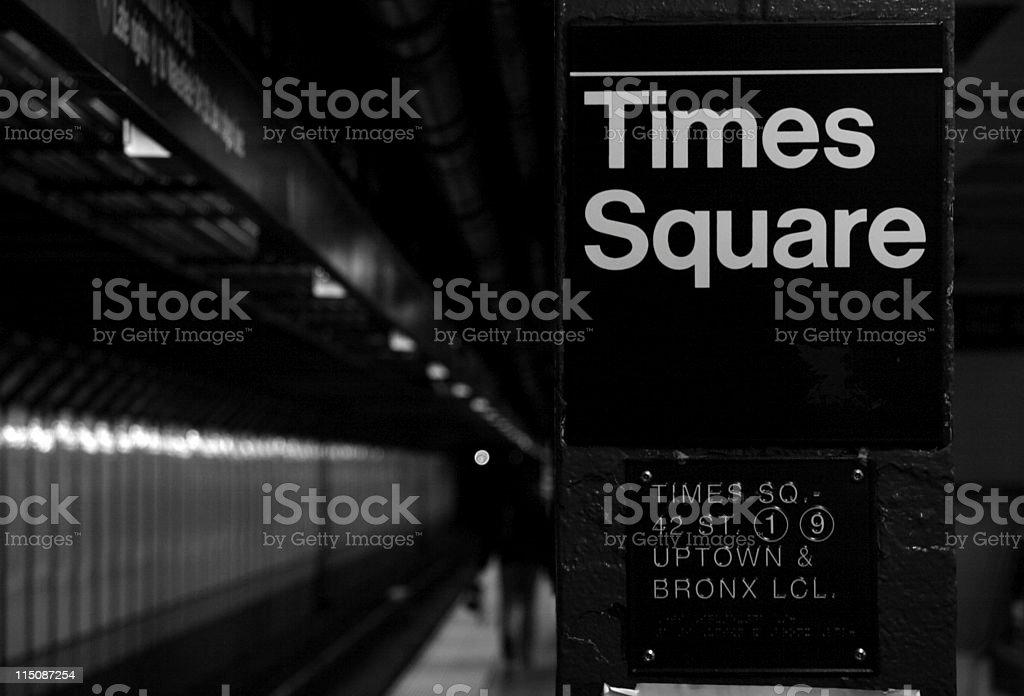 times square subway NYC royalty-free stock photo